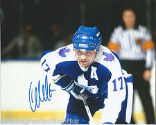 TORONTO MAPLE LEAFS WENDEL CLARK SIGNED 8X10 PHOTO W/COA WENDELL VINTAGE