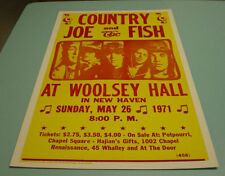 COUNTRY JOE & THE FISH ROCK CONCERT POSTER
