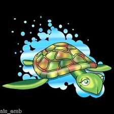 Cute Turtle Kid HEAT PRESS TRANSFER for T Shirt Sweatshirt Tote Bag Fabric 442c