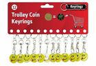 Smiley Face Tounge Shopping Trolley Token £1 Coin Keyring clasp Locker Pound