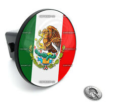 """2"""" Tow Hitch Receiver Plug Cover Insert For SUV's & Trucks - """"MEXICAN FLAG"""""""