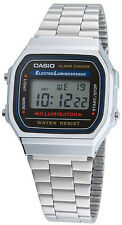 CASIO Uhr Digital Alarm-Chronograph Chrono A168WA-1YES NEU & OVP