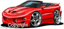 2002 Pontiac Firebird Trans Am WS-6 Wall Decal Game Room Graphics Garage Cling