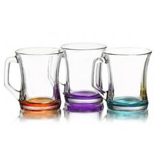 New Coloured Set Of 12 Glasses Tea Coffee Cappuccino Cups Hot Drink Mugs - Gift