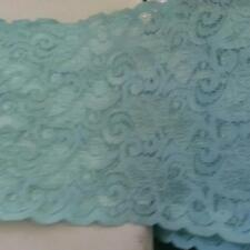 "1 y turquoise stretch  double scalloped trim 5 1/4 "" great evening or craft S6-4"
