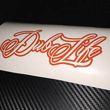 ORANGE Dub Life Car Sticker Decal VW VAG VEEDUB BUG BUS