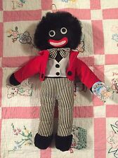 Vintage Black Cloth Rag Doll African Americana 17""