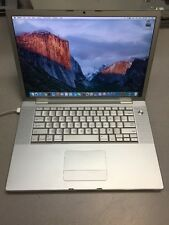"Apple Macbook Pro GLOSSY LCD15""A1260 C2D 2.4GHz 250GB HD 2GB MEM NO BATTERY 2008"