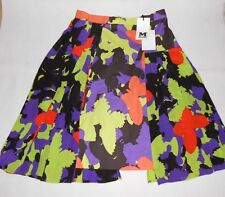 New M Missoni multi print silk skirt Size IT38, UK8 RRP £349
