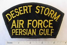 US AIR FORCE DESERT STORM PERSIAN GULF PATCH for CAP / HAT Yellow on Black