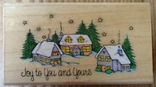 Hero Arts Joy To You And Yours Rubber Stamp Christmas Winter Scene F640