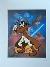 Disney - Goofy - Star Wars - Jedi - Hand Drawn/Hand Painted Cel