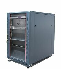 "Bonus Free!!! 18U 39"" Deep 19"" IT Free Standing Server Rack Cabinet Enclosure"