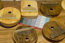 Acoustic Kalimba, 15 key, Proper harmonic design,Mbira,Thumb Piano,Natural Wood