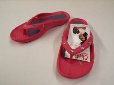 Tony Little Cheeks Healthy Lifestyle Sandal-Jewel Thong-Pink-Size 9-NWT