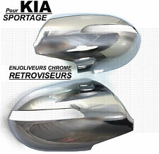 KIA SPORTAGE 2010-ON CHROME EXTERIOR SIDE MIRROR COVERS CAPS WINGS MARKER LIGHTS