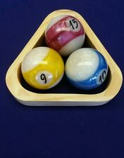 NEW BILLIARD ITEM : 3 ball wood rack  Pool table cue game accessory 8 9 compete
