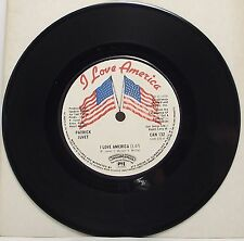 "PATRICK JUVET : I LOVE AMERICA 7"" Vinyl Single 45rpm Excellent"