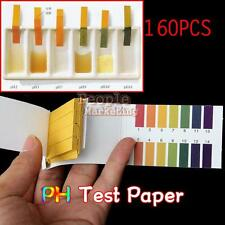 160 Full Range pH 1-14 Test Testing Indicator Paper Litmus Strips Kit Universal