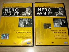 DVD LE GRANDI INCHIESTE DI NERO WOLFE CIRCUITO CHIUSO PUNTATE 1 E 2 DE LUCA PISU