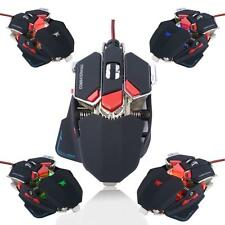 4000DPI 10D Buttons LED Optical Mechanical Wired Gaming Mouse for Pro PC Gamer