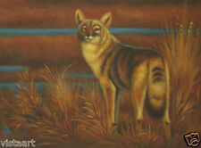 """Oil Painting On Canvas 12""""x 16"""" Stretched- Lone Wolf"""