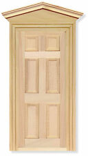 1:12th External Wooden Door & Frame Dolls House Miniature DIY Fairy Accessory 02
