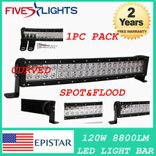 CURVED 23INCH 120W EPISTAR LED  LIGHT BAR  DRIVING OFFROAD 4WD JEEP COMBO
