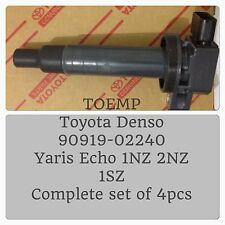 4pcs X Toyota Denso Echo Yaris Ignition Coil 90919-02240 4AGE 16V COP Upgrade