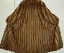NEIMAN MARCUS Sable Stone Marten Fur Coat Size 10-12 Excell Condition Free Ship