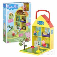 New Peppa Pig Peppa's Home & Garden Playset See Saw & Figures Fold Away Official
