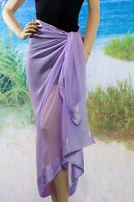 Lavender Sarong - Pareo Sheer Beach Swimsuit Coverup
