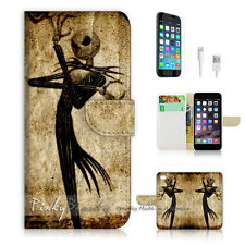 "iPhone 6 (4.7"") Print Flip Wallet Case! Nightmare Before Christmas P1369"