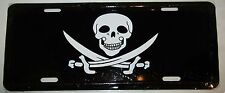 """Jolly Roger Captian Calico Jack Rackam Pirate 6""""x12"""" License Plate Sign"""