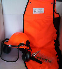 CHAIN SAW SAFETY CHAPS HARD HAT GLASSES, Woodcutter's 3-Piece Combo Safety Kit