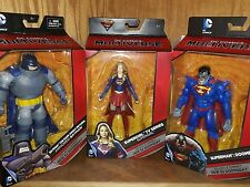 New MATTEL DC Multiverse SUPERGIRL/ ARMORED BATMAN/SUPERMAN DOOMSDAY BAF