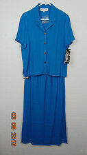 NWT Donna Ricco Woman's Blouse and skirt outfit.  Blue Size 12