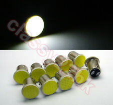 10 x T25/S25 1157 BAY15D COB LED Stop Tail Turn Brake White Light  Lamp Bulb