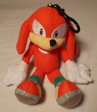 "SEGA Sonic & Knuckles Plush Keychain Back Pack Pal The Hedgehog 7"" Zip Pocket"