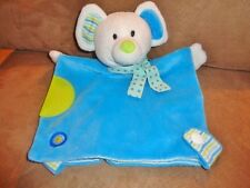 Blanket Mouse Blue Green Capelli New York Baby Security Lovey Plush Stuffed