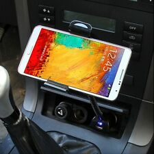 USB Car Cigarette Lighter Mount Holder Charger for Samsung Galaxy S4/S5 Note2/3