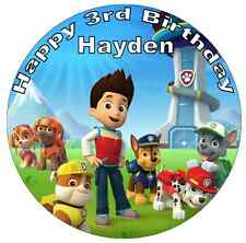 "Paw Patrol Personalised Cake Topper 7.5"" Birthday Edible Wafer Paper Birthdays"