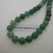 8mm Round Aventurine Green Color Gemstones - 50 Beads