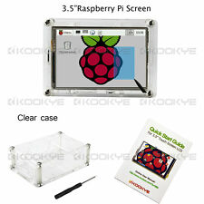 "3.5"" LCD Touch Screen Display + Clear Case for Raspberry Pi 2 Pi 3 model B New"