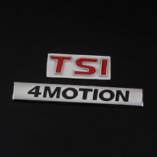 Metal Red TSI 4MOTION Rear Trunk Side Emblem Badge Sticker For MK7 MK6 Golf Polo