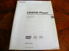 Sony DVP - S 7700 CD/DVD player   manuale d'uso originale Italiano