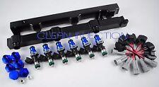fit Nissan 350z infinity g35 VQ35DE engine bosch 850cc Fuel injectors Black rail