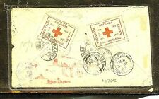GRENADA (P2909B) 1920 RED CROSS STAMPX2 ON COVER TO USA  SCARCE