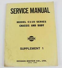 Datsun 240K C110 series 1976 workshop manual chassis and body supplement 1