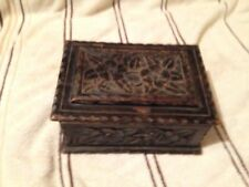 Vintage Carved Wooden Trinket Box